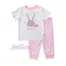 Пижама для девочки К 1113/сахар+роз.зайчики