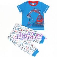 Пижама для мальчика К 1113/индиго+техника на белом