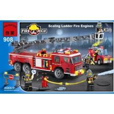 """Конструктор Brick """"Пожарный: Машина с подъемником"""" 605 деталей"""