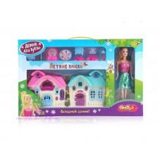 "Дом для куклы Dolly Toy ""Летние краски""+кукла"