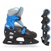 Коньки ледовые BlackAqua AS-403 /Cosmo/(доп.роликовая платформа) (р.33-36) синий