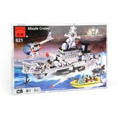 """Конструктор Brick """"Ракетный крейсер"""" 843 детали"""