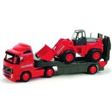 Автомобиль-трейлер+трактор погрузчик
