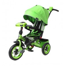 Велосипед 3кол. Leader 360 с разворотным сиденьем,12x10 AIR Car, зелёный