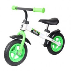 "Беговел Moby Kids KidRun 10,10"" надувн. кол., пластиков. обод. Крылья, бел-зеленый"