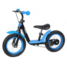 "Беговел Moby Kids KidRun 12,12"" надувн. кол., метал. обод., ручной тормоз. Крылья, красн-синий"