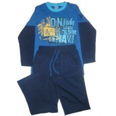 Комплект для мальчика (джемпер+брюки). Синий