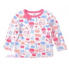 Джемпер для девочки К 3944/медузы на белом
