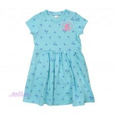 Платье для девочки К 5375/мороз.мята пальмы