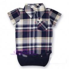 Боди-сорочка для мальчика. Клетка арт. 24-825