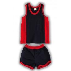 Комплект для мальчика (майка+шорты). Синий/красный