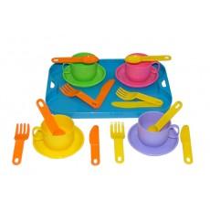 """Набор посуды """"Минутка"""" на 4 персоны с подносом"""