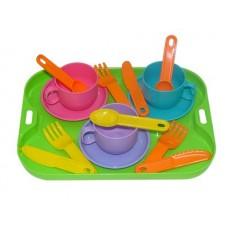 """Набор посуды """"Минутка"""" на 3 персоны с подносом"""