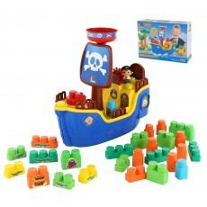 """Игровой набор """"Пиратский корабль с конструктором"""", 30 дет 62246"""
