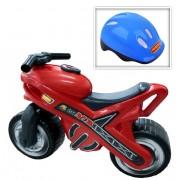 """Каталка-мотоцикл """"MX"""" со шлемом"""