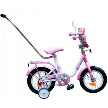 """Велосипед Stels 12"""" Flash ( 8,5"""" розовый/белый) арт.15"""