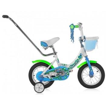 """Велосипед Stels 12"""" ECHO (8"""" Белый/морская-волна) арт.V020"""