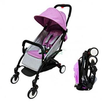 Прогулочная коляска Sweet Baby Mamma Mia Linen Canarie (сиреневый с серым)