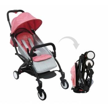Прогулочная коляска Sweet Baby Mamma Mia Linen Milos (розовый с серым)