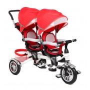 Велосипед для двойни BA TWINS красный