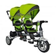 Велосипед для двойни BA TWINS зелёный